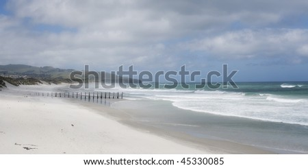St Kilda Beach, Dunedin, New Zealand - stock photo