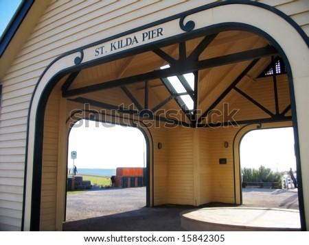 St. Kilda's Pier in Melbourne - stock photo