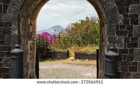 St. Kitts Brimstone Hill Fortress - stock photo