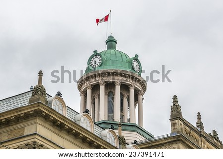 St. Lawrence Hall was built in 1850 as a meeting place for public gatherings, concerts and exhibitions. The Renaissance Revival style building was designed by William Thomas. Toronto, Canada. - stock photo