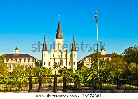 St. Louis Cathedral in New Orleans - stock photo