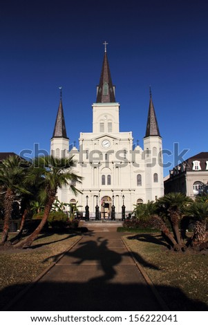 St  Louis Cathedral in the French Quarter, New Orleans - stock photo