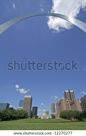 St Louis city skyline - stock photo