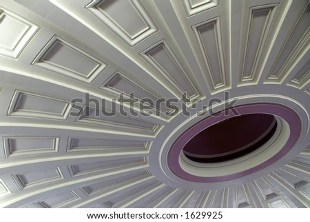 St. Louis Courthouse Ceiling - stock photo
