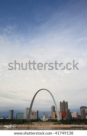 St. Louis Skyline - Gateway Arch - stock photo