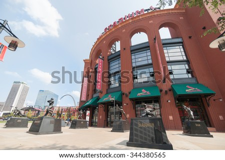 ST. LOUIS, USA - SEPTEMBER 2; Saint Louis Ballpark Village (BPV) adjacent to Busch Stadium home to St. Louis Cardinals on September 2, 2015 in downtown St. Louis, Missouri, USA.