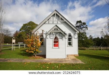 St Luke's Church Glenquarry, Southern Highlands NSW Australia - stock photo