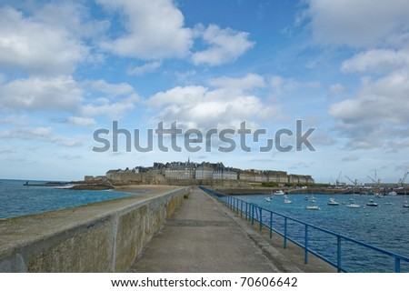 St Malo Brittany France - stock photo