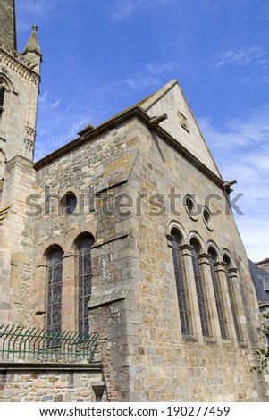 st malo cathedral in the north of france - stock photo