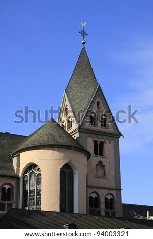 St. Maria Lys church in Cologne - stock photo