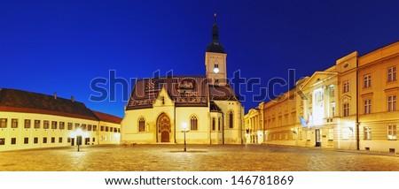 St. Mark's Church in Zagreb, Croatia - stock photo