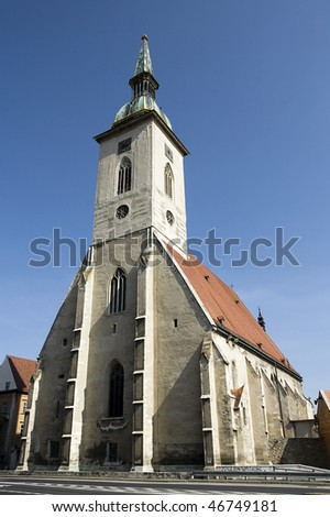St. Martin's Cathedral built in 14th century, in Bratislava, Capitol of Slovakia. - stock photo