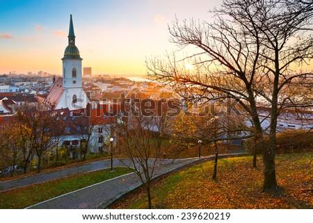 St. Martin's cathedral in Bratislava, Slovakia. - stock photo