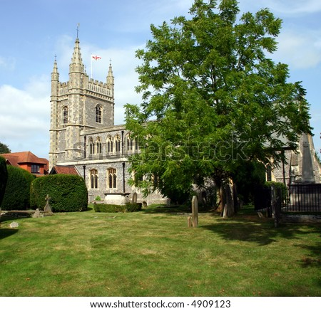 St Mary & All Saints Church Beaconsfield, Buckinghamshire, England - stock photo