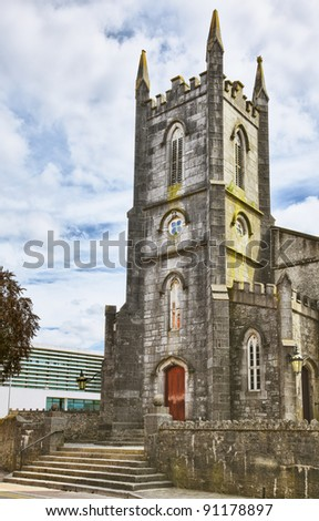 St. Mary church of Ireland in Athlone city in summer. - stock photo