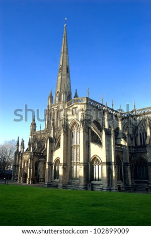 St Mary Redcliffe Cathedral in Bristol, England. - stock photo