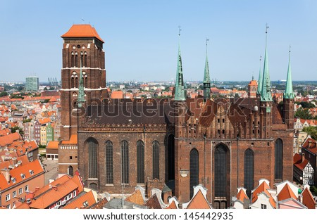 St. Mary's Cathedral in old town of Gdansk - Poland, Europe