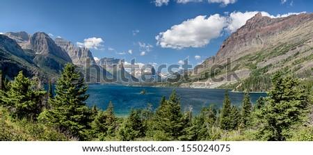 St Mary's Lake Glacier National Park. - stock photo