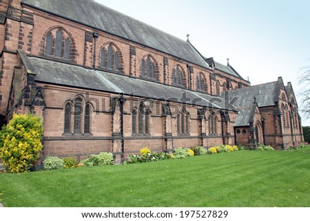 St Mary without the walls Chester UK - stock photo