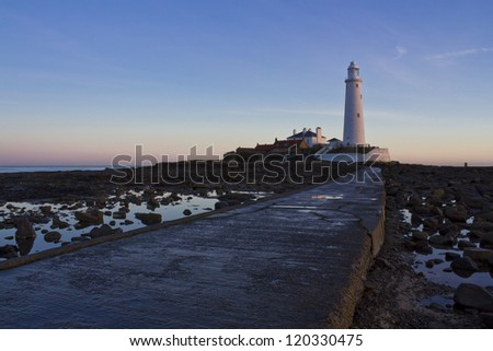 St Marys Lighthouse. Whitley Bay. Tyne and Wear. England.