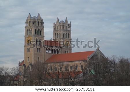 St. Maximilian Kirche, church, Munich, Bayern, Germany - stock photo