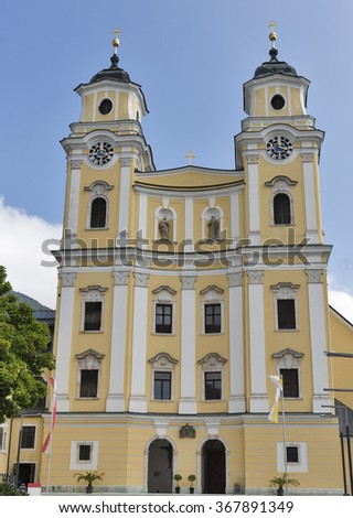 St. Michael Basilica (formerly Collegiate Church) at Mondsee, Austria. Site of the wedding scene in the The Sound of Music.