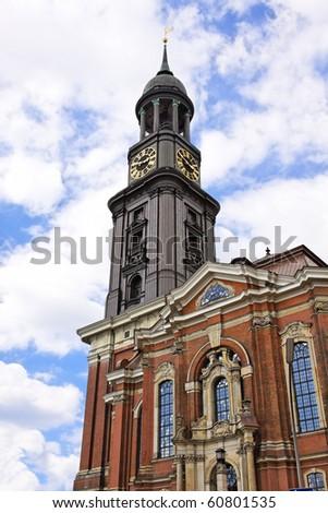St. Michael's Church - Hamburg's major landmarks - stock photo