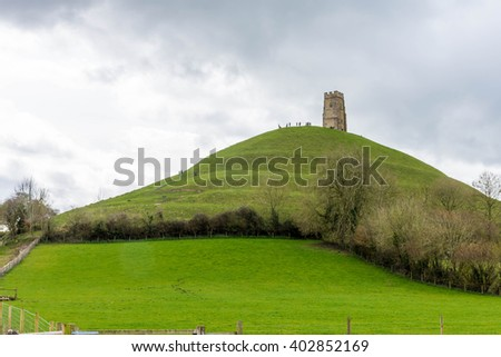 St Michael's tower from Glastonbury