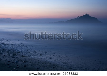 St Michaels Mount, Cornwall UK - stock photo