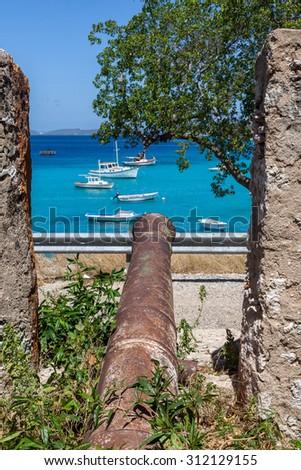 St Michel Fort -  Curacao ( Dutch Antilles)  an island in the Caribbean Ocean  - stock photo