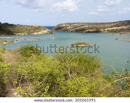 St Michiel and Boca Sami a beautiful lake on the island of Curacao