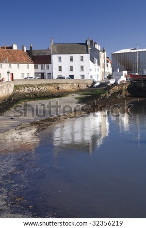 St Monans town in Fife, Scotland. - stock photo