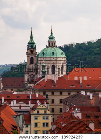 St. Nicholas Church in Prague (Czech Republic) - stock photo