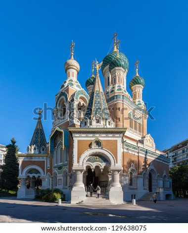 St Nicholas Russian Orthodox Cathedral, Nice - France