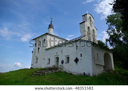 St. Nicolas Church in Izborsk, Pskov region, Russia