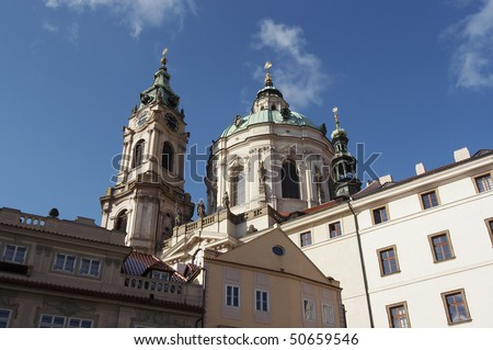 St Nikolas church, one of the most important buildings of baroque Prague
