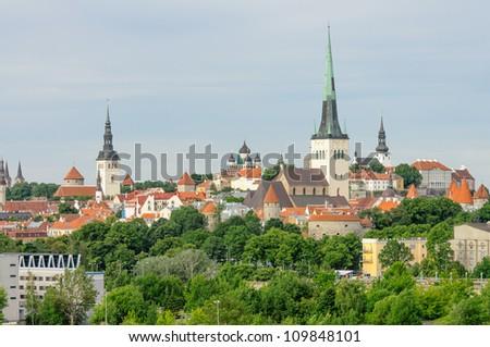 St Olaf's Church, Tallinn, Estonia - stock photo