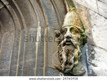 St Patrick at Dublin Castle, Ireland - stock photo
