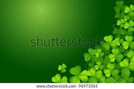 St. Patrick background - stock photo
