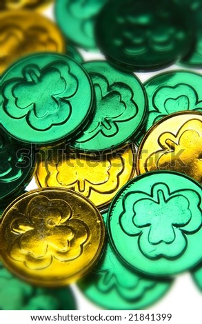 st patrick day coins - stock photo