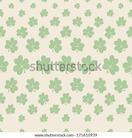 St. Patrick day pattern background - stock photo