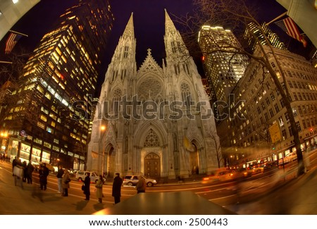 St. Patrick's Cathedral  -  church ,Manhattan - - stock photo