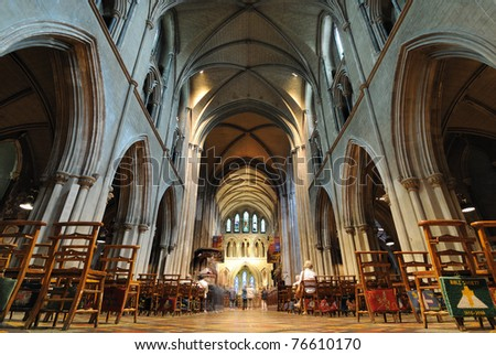 St. Patrick's Cathedral in Dublin, Ireland. - stock photo