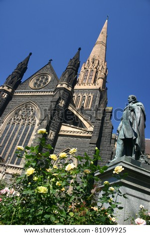 St Patrick's Cathedral in Melbourne - stock photo