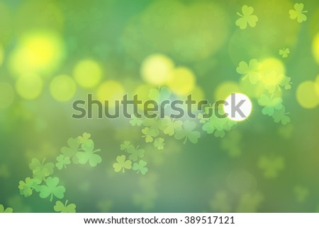 st. patrick's day abstract background - stock photo