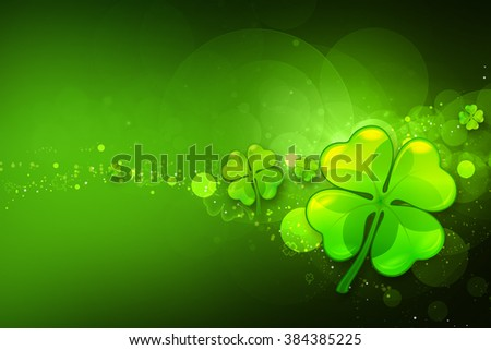 St. Patrick's day background. Clover background. - stock photo