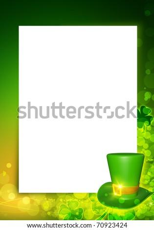 St Patricks Day Background Frame Black Stock Illustration 70923424 ...