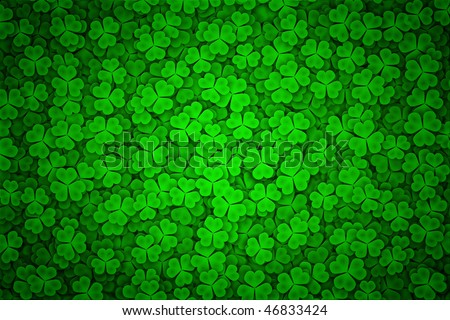 St. Patrick's day background in black and green colors - stock photo