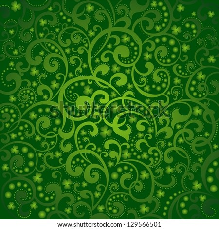 St. Patrick's day background in green colors.  illustration. - stock photo