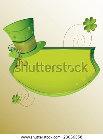 St Patrick's Day banner background  - jpg version - stock photo